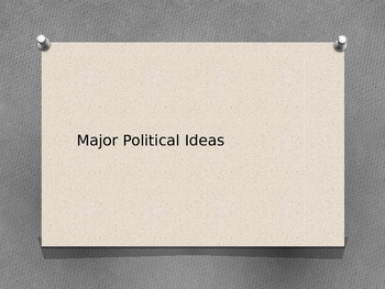Major Political Ideas PowerPoint with Notes