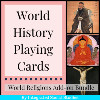 Major Religions Add-on Bundle: World History Playing Cards Series