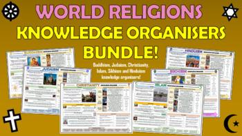 Major Religions Knowledge Organizers Bundle!