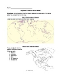 Major Rivers and Mountains of the World Worksheet