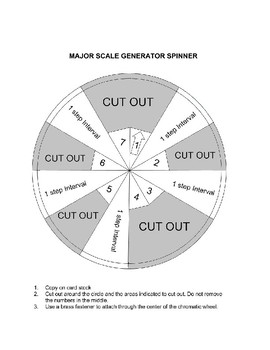 Major Scale Generator for E flat Instruments