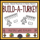 Major Scale and 5 note group Build-A-Turkey
