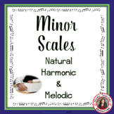 Minor Scales: Explanation and Worksheets for Middle School
