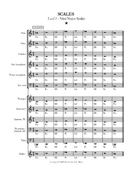 Major Scales - Level 1 - All Instruments