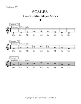 Major Scales - Levels 1-4 - Baritone TC