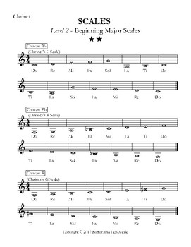 Major Scales - Levels 1-5 - Clarinet