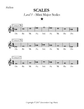 Major Scales - Levels 1-5 - Mallets