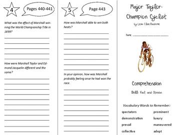 Major Taylor: Champion Cyclist Trifold - Treasures 6th Gra