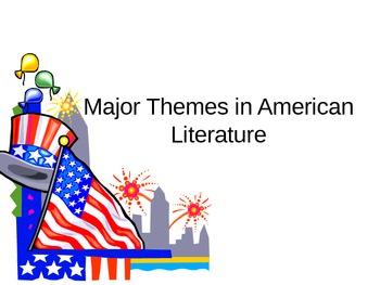 Major Themes in American Literature