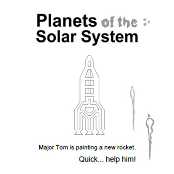 Major Tom is painting a new rocket ( COLORING SHEETS )