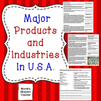Major U.S. Products and Industries