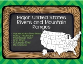 Major U.S. Rivers and Mountain Ranges