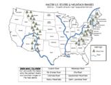 Major US Mountains and Rivers - Georgia Social Studies Standards