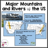 Major US Mountains and Rivers Interactive PowerPoint and Resources