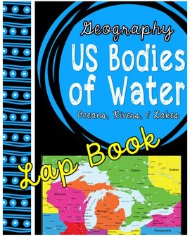 Major United States Bodies of Water Lap Book