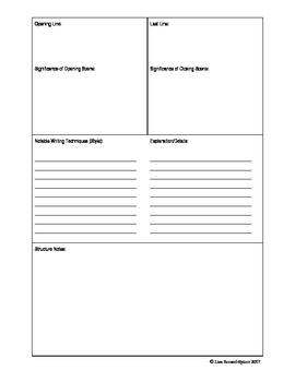 Major Works Study Sheet