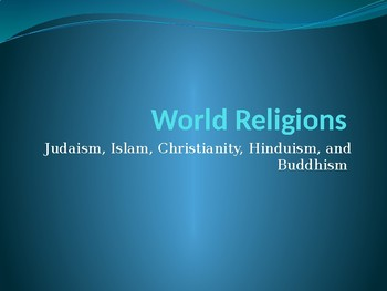 Major World Religion Powerpoint