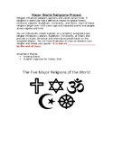 Major World Religions Project