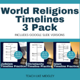 Major World Religions Timeline Mini Bundle