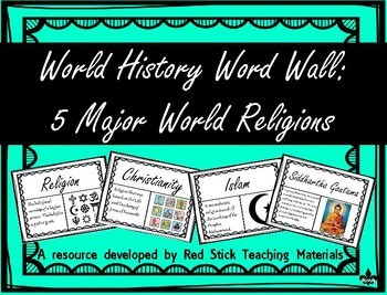 Major World Religions Word Wall