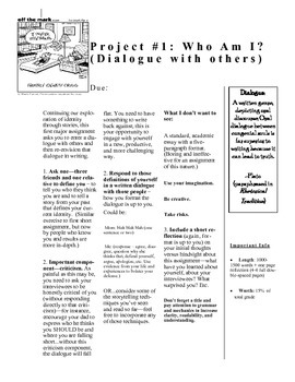 """Major Writing Assignment """"Who Am I: Dialogue with Others"""""""