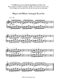 Major and Minor Arpeggio Exercise
