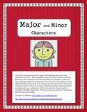 Major and Minor Character Study Worksheet