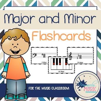 Major and Minor Chord Flashcards {Chevron}