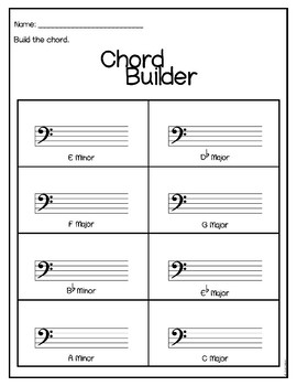 Major and Minor Chords {Growing Bundle}