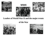 Major events and leaders of World War II