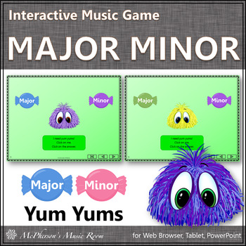 Major or Minor - Interactive Music Game Yum Yums {monsters}