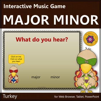 Thanksgiving Music Activity: Major or Minor {Interactive Music Game} turkey
