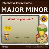 Thanksgiving Music Activity: Major Minor {Interactive Music Game} turkey