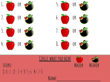 Major or Minor Tonality: Printable & themed listening pages