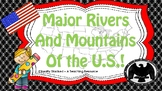 Major rivers and mountains of the US freebie!