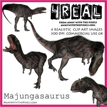 Majungasaurus - 4 Realistic Dinosaur Clip Art Images