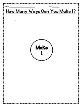Make 1 (using tenths)