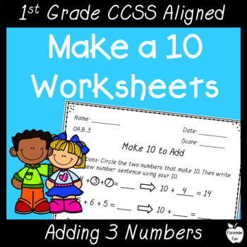 Make 10 Worksheets, Activities & Assessments ~ NO PREP! ~ K-1st