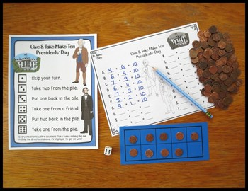 Make 10 Addition Fact Strategy Game With Winter Themes