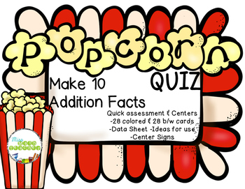 Make 10 Addition Facts POPcorn Quiz