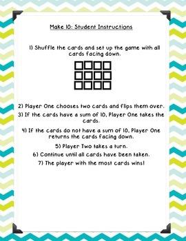 Make 10 - Addition Game