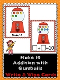 Make 10 Addition- Gumballs- Write & Wipe Cards