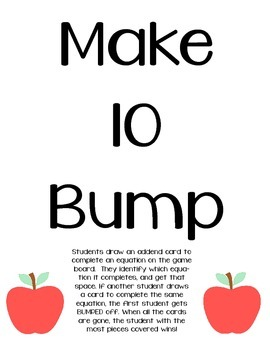 Make 10 Bump Game