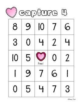 Make 10- Capture 4 game {Valentine's Day Addition}
