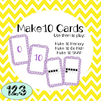 10 Frame Cards - Instructions for 3 Games