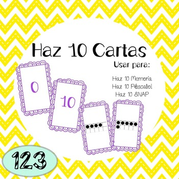 10 Frame Cards (Spanish) - Instructions for 3 Games