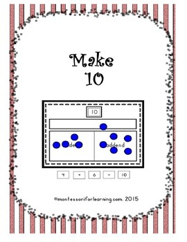 Make 10: Common Core Aligned Math Activity
