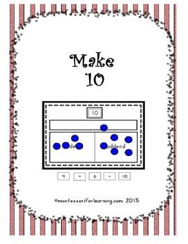 Make 10: Common Core Aligned Math Activity