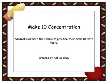Make 10 Concentration