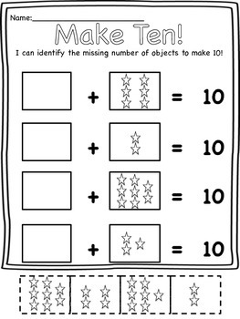 Make 10 Cut and Paste Activities